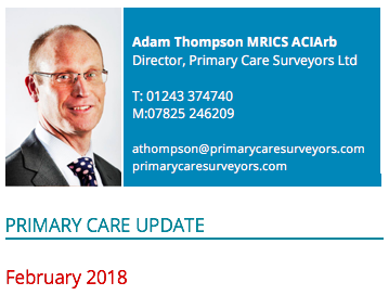 Primary Care Update – Organisations and Transformation